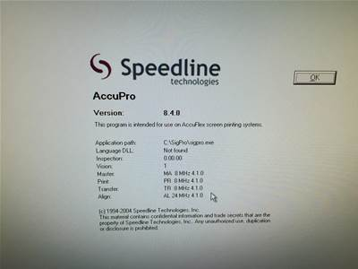 Recon shipsSPEEDLINE MPM UP1500 SCREEN PRINTER