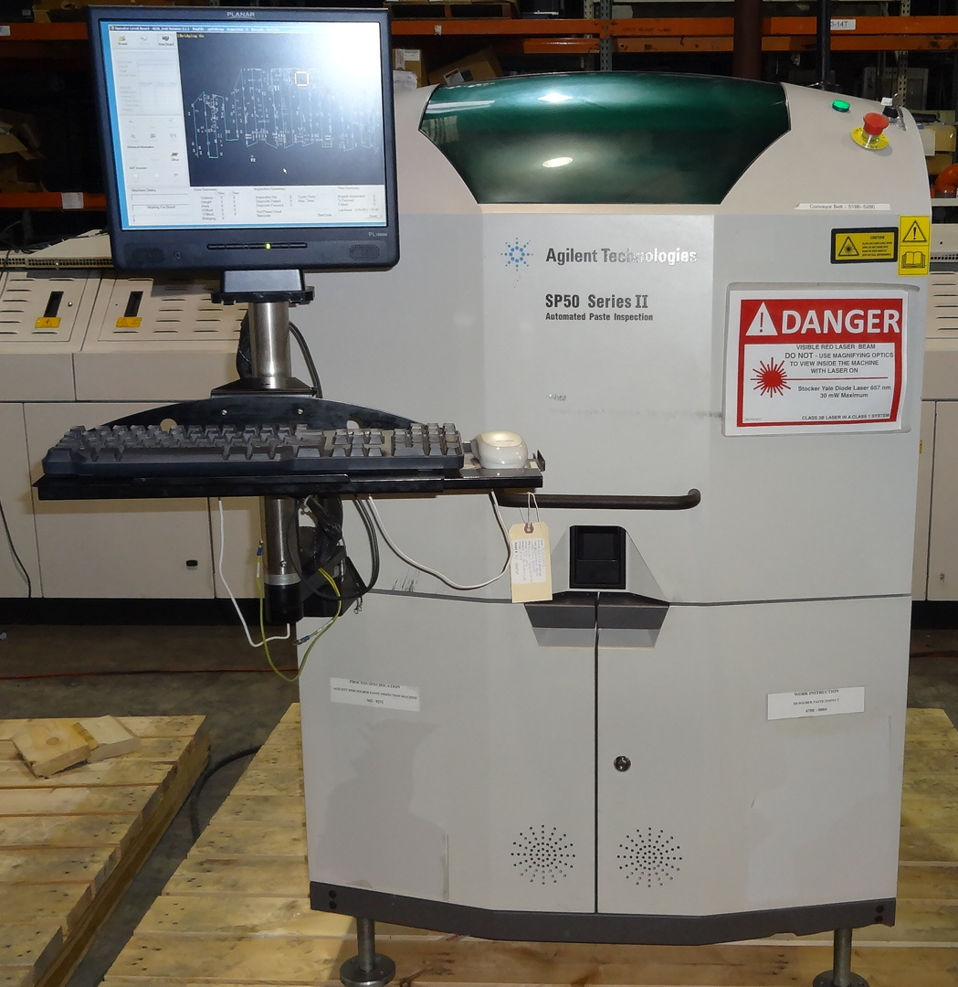 Recon Inc. sellsAGILENT SP-50 Series II AUTOMATED PASTE INSPECTION
