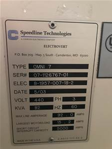 We buy usedSPEEDLINE Omni 7 REFLOW OVEN